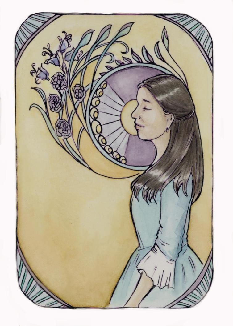 Eliza postcard by HogwartsHorror
