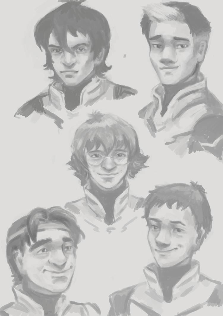 Voltron sketches by HogwartsHorror