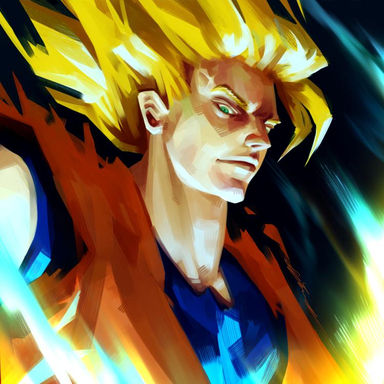 Fanart Friday - Goku by TheOneWithBear