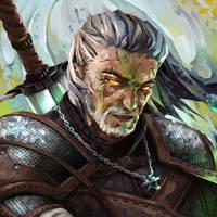 Fanart Friday - Geralt by TheOneWithBear