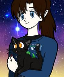 Scorpio and her kitty