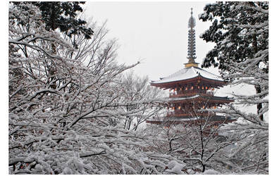 Snowy Pagoda by billsabub
