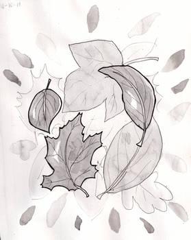 Inktober Day 10: Leaves