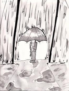 Inktober Day 11: Rainy