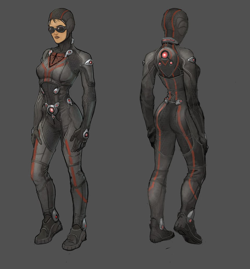 Terran Republic female infiltrator by Hebime