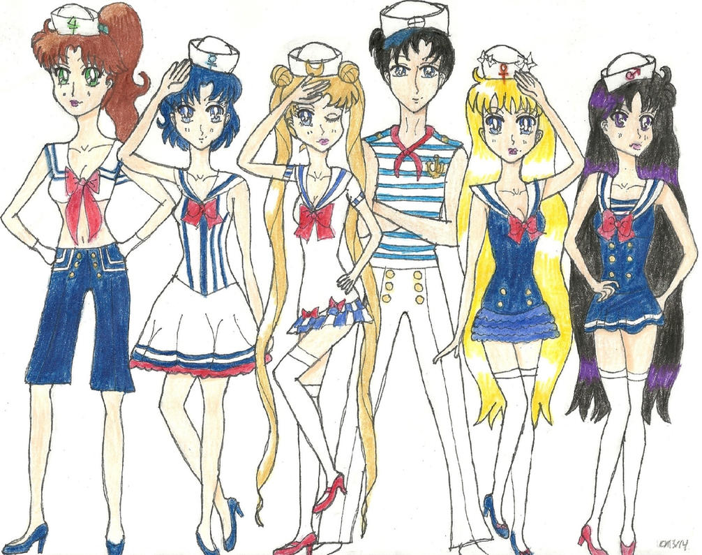 Halloween Sailors by KonekoTsukino