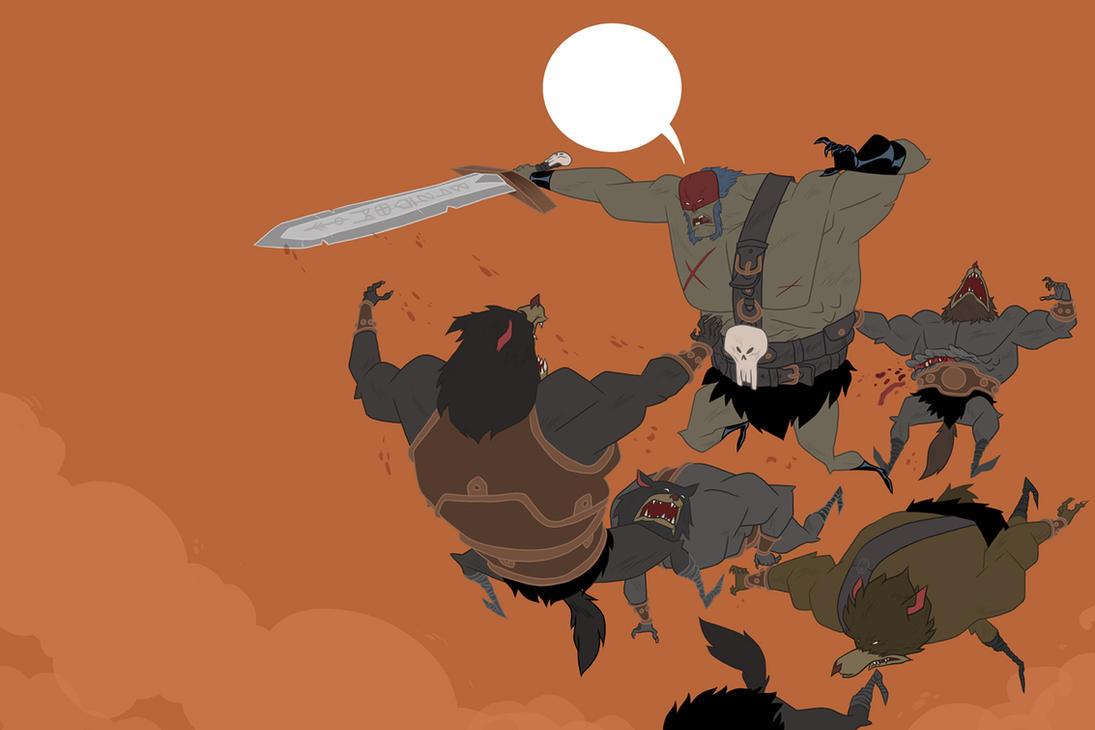 Wolfbattle by Seanbahr