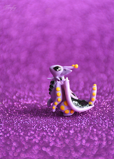 Little Polkadot Dragon by SugarFirefly