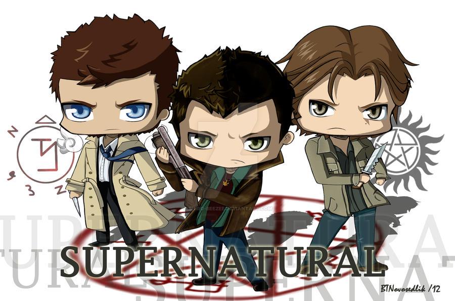 Supernatural Dean Sam And Castiel By Shiro Beezee On Deviantart