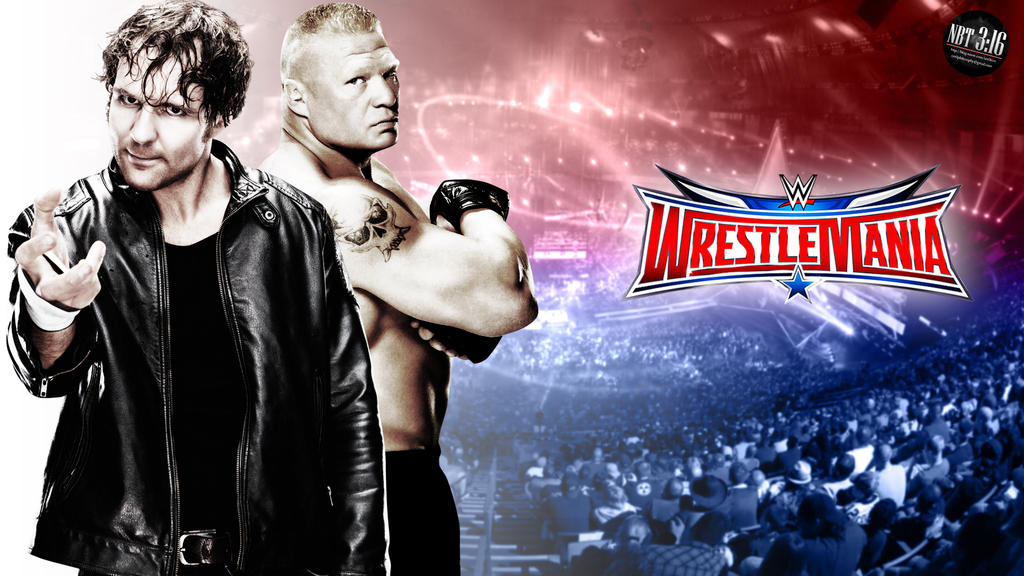 Dean Ambrose Vs Brock Lesnar WrestleMania 32 By Takezer0