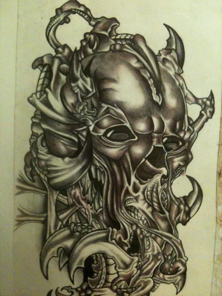 Tattoo design drawing by chazvasskilljoy on deviantart for Tattoo designs to draw