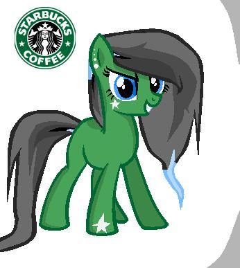 Starbucks pony by TheApplePone on DeviantArt