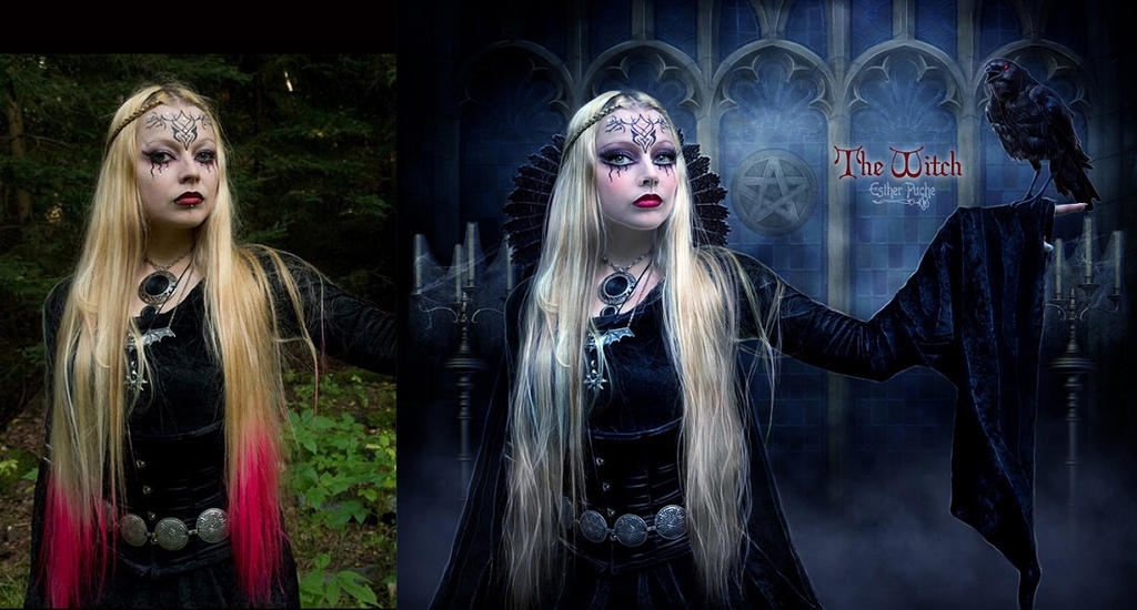 The Witch - Before and After by EstherPuche-Art