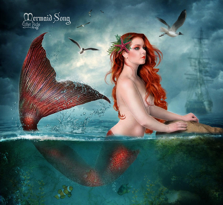 Mermaid Song by EstherPuche-Art