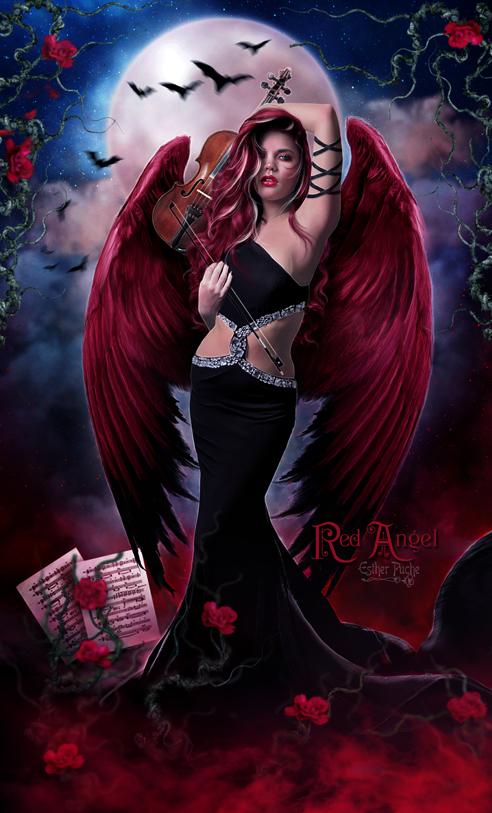 Red Angel by EstherPuche-Art