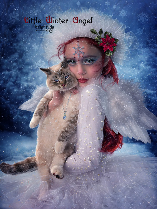 Little Winter Angel by EstherPuche-Art
