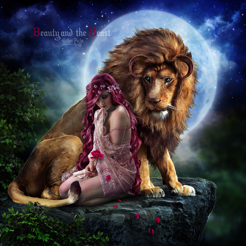 Beauty and the Beast by EstherPuche-Art