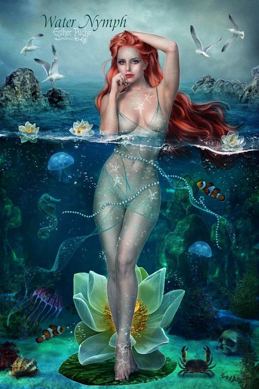 Water Nymph by EstherPuche-Art