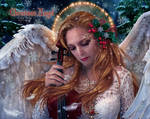 Christmas Angel by EstherPuche-Art