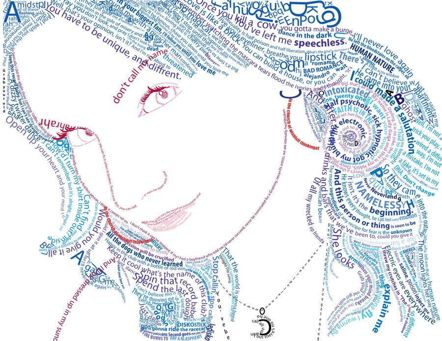 typographic self portrait by nicolehayley on deviantart