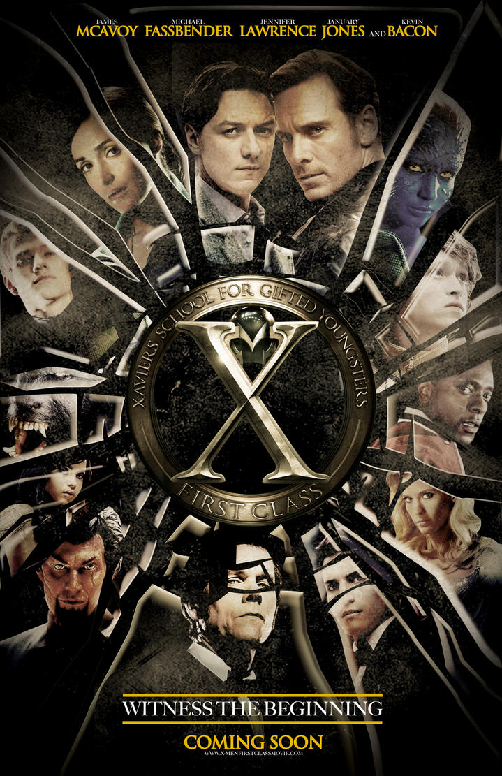 Men: First Class Movie Poster by nicolehayley on DeviantArt X Men First Class Poster