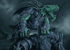 Dragonborn Warrior by JohnDotegowski
