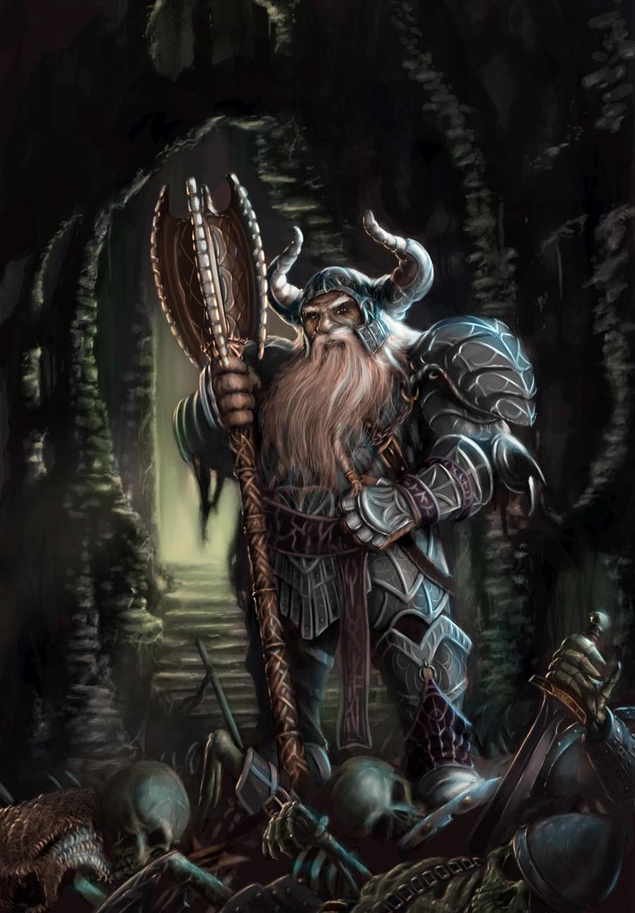 Dwarf Cleric by JohnDotegowski