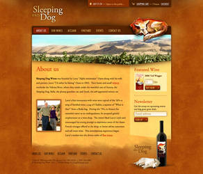 Sleeping Dog Wines Website