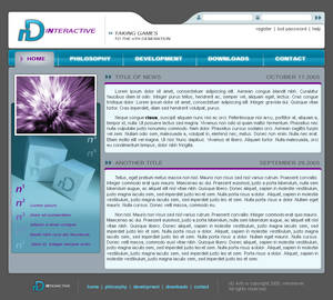 nD Interactive Website Design