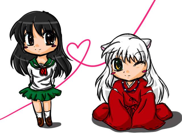 Chibi Inuyasha And Kagome By Mimi Ju