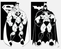 SUPERMAN - BATMAN by javipascual213