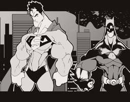 SUPERMAN AND BATMAN by javipascual213