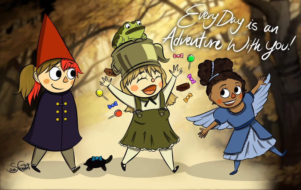 Over the Garden Girls - With Writing by Captain-Grossaint