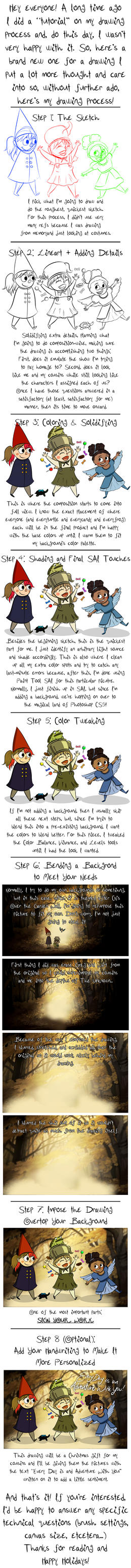 Drawing Process for Over the Garden Girls by Captain-Grossaint
