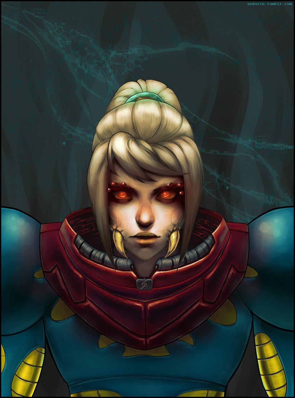 Metroid Fusion: Samus by andarix