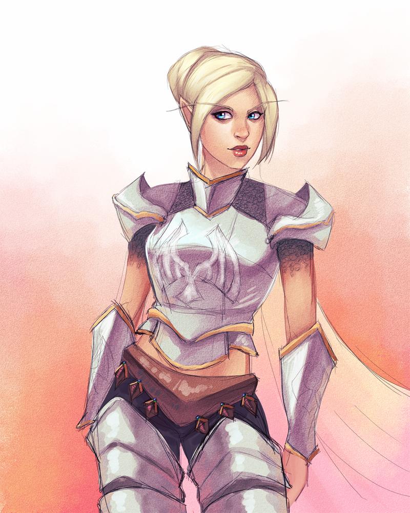 Commission:  WoW Half-elf Paladin by andarix