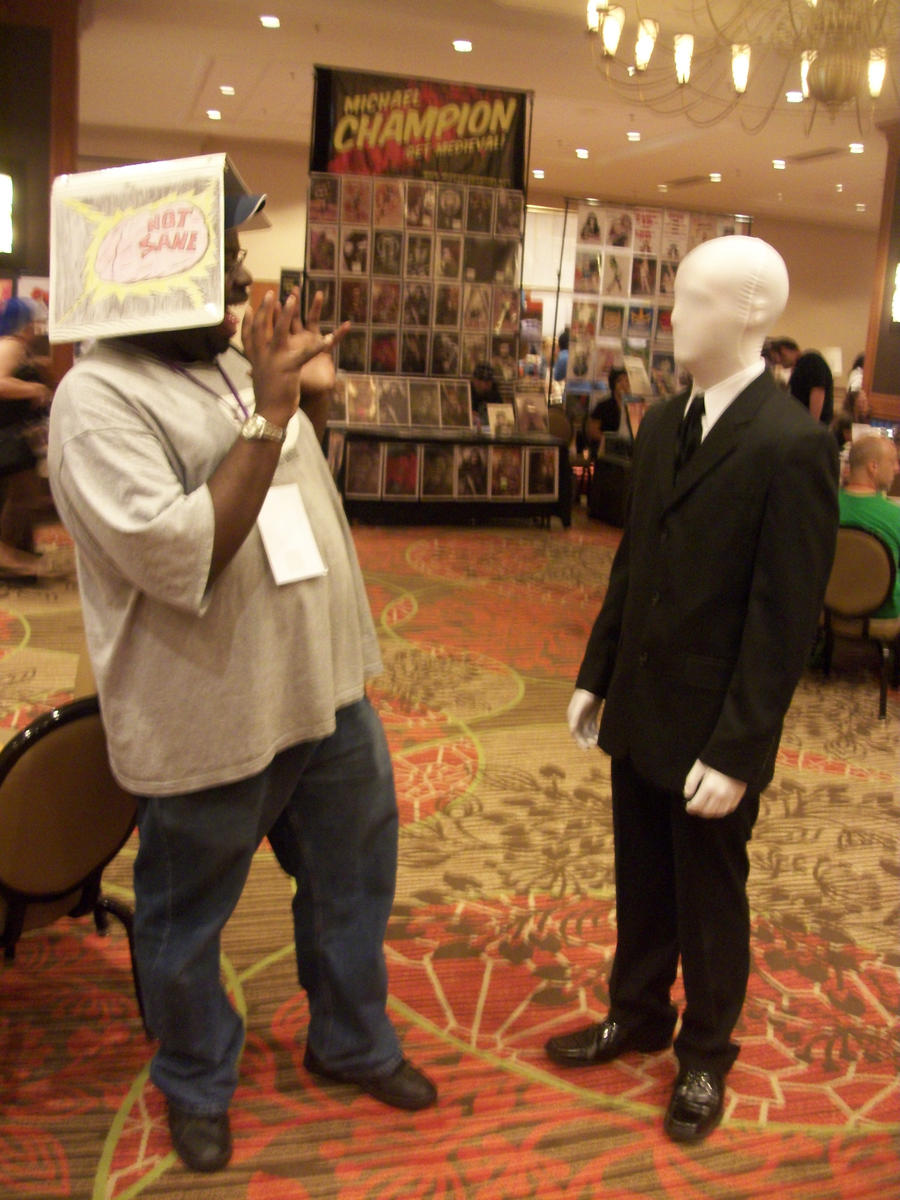 Animefest '12 - Me Meeting Slenderman by TexConChaser