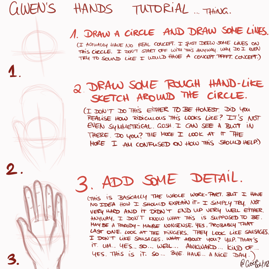 GWEN'S HANDS TUTORIAL... THING. by TheGweny