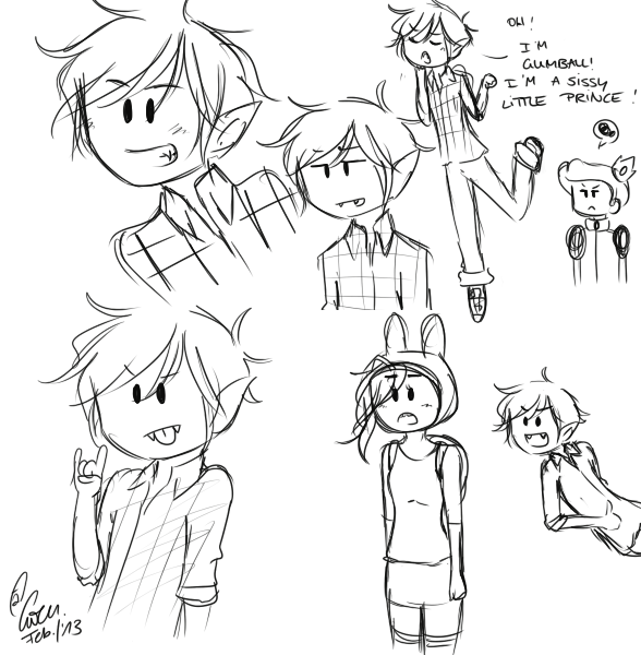 marshall lee sketch dump. by TheGweny