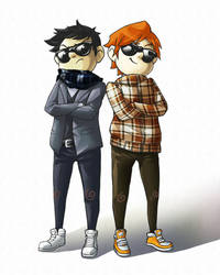 damian n' colin-cool dudes