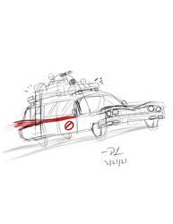 Ecto-1 - Loose Sketch - by CallTheGhostbusters