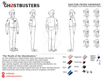 Peter Venkman Character Design Sheet by CallTheGhostbusters