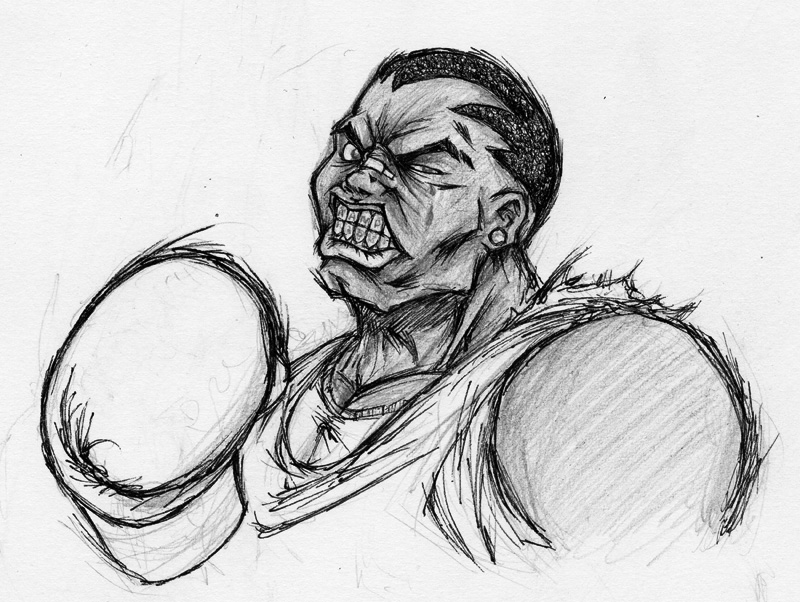 Balrog sketch by Winter-artwork