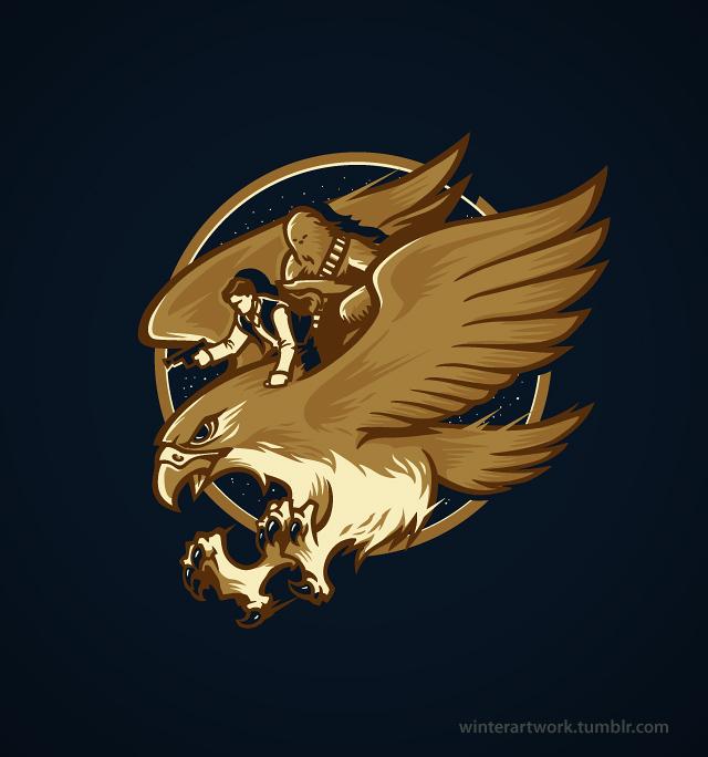 Ride The Falcon by Winter-artwork