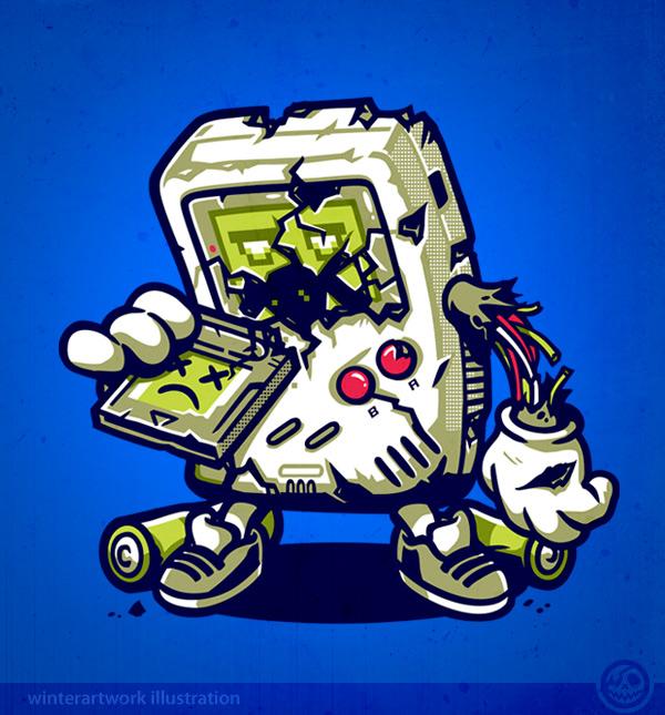 gameboy wallpaper iphone 4