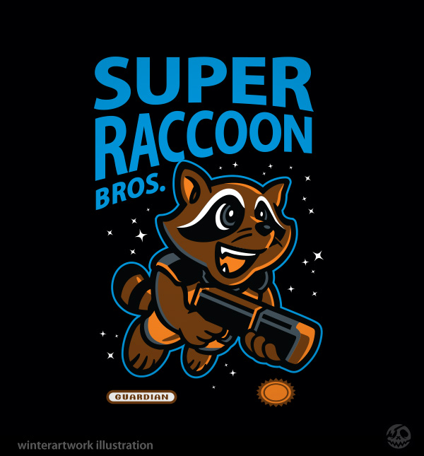 Super Raccoon Bros. by Winter-artwork