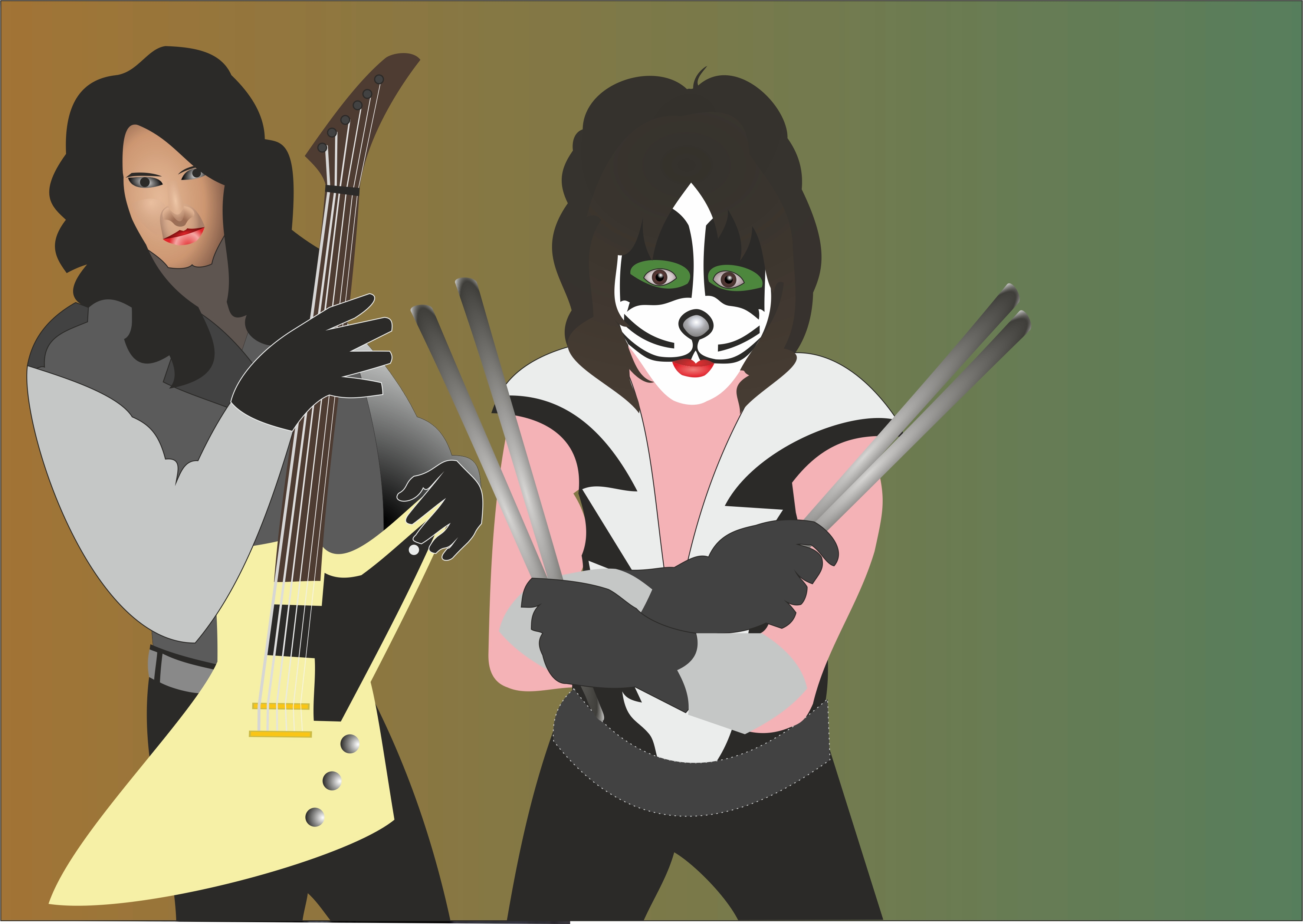 December (Bruce Kulick and Peter Criss) by Apkx