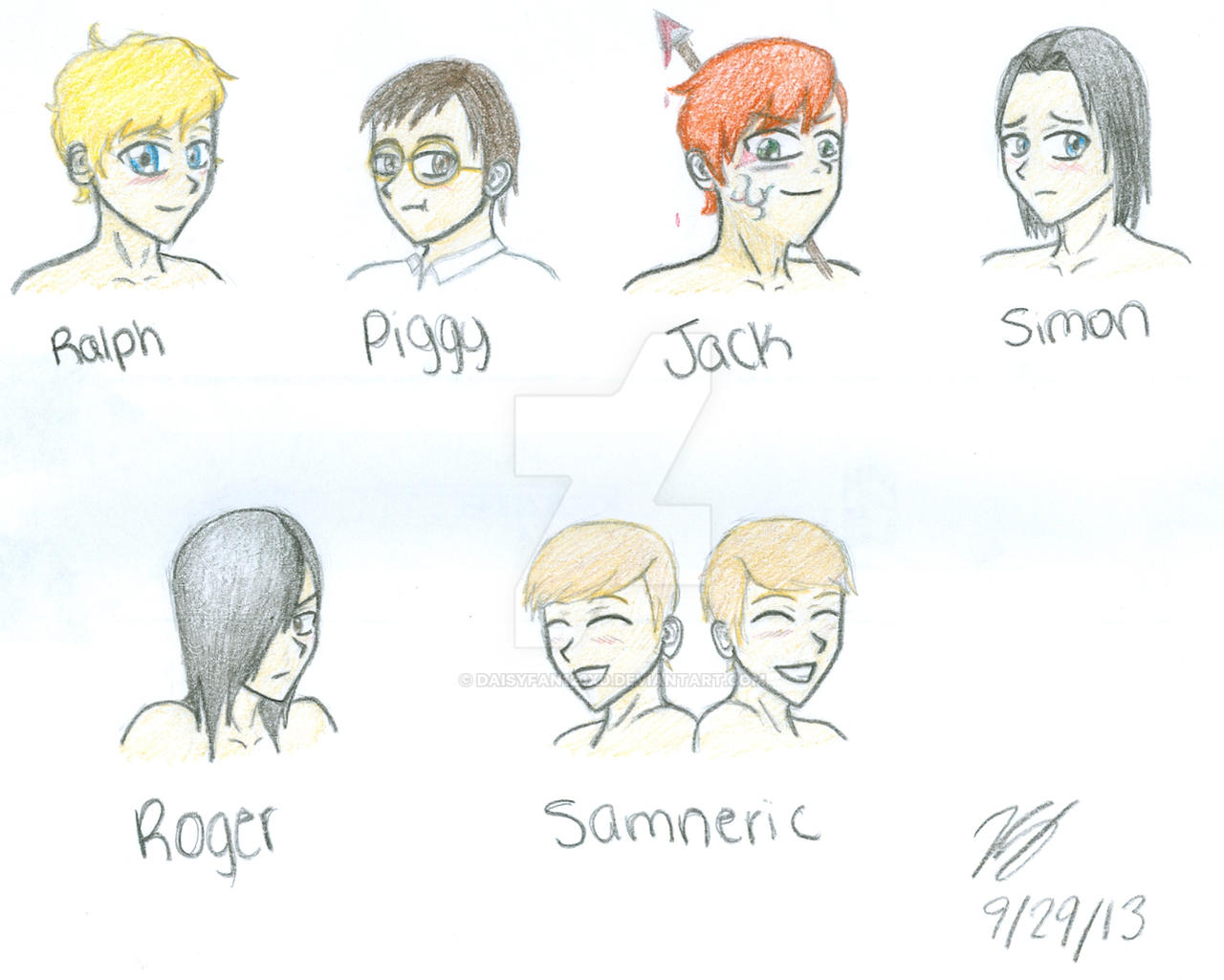 lord of the flies characters by daisyfanxd on lord of the flies characters by daisyfan123xd
