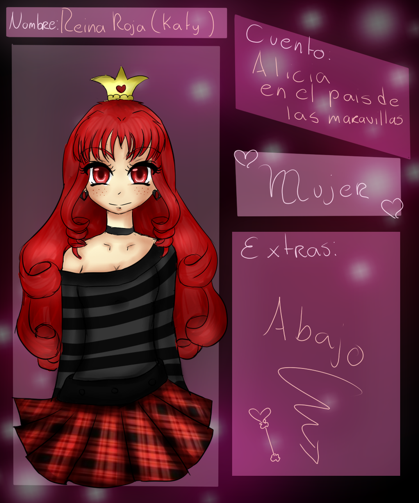 Ficha TalesLand : REINA ROJA (Katy) by CartoonCoby