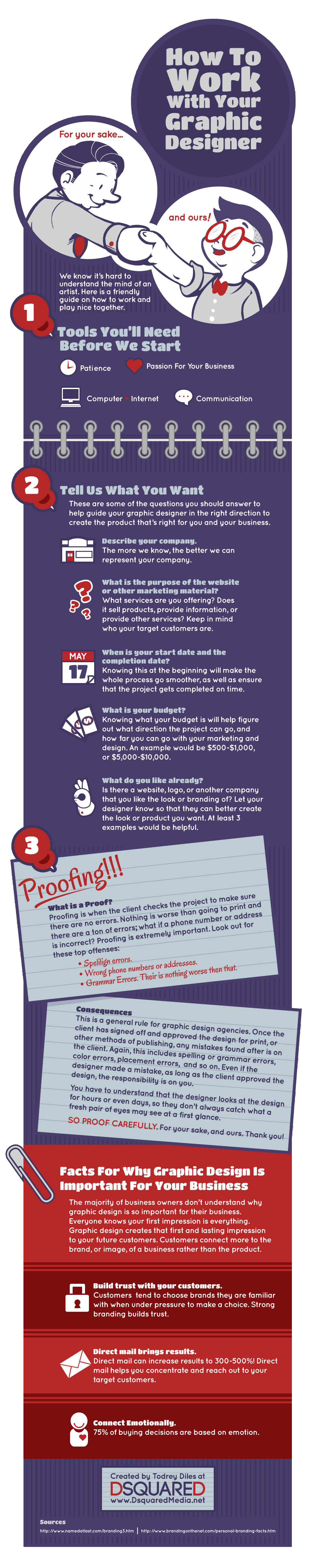 How to work w/ your graphic designer![INFOGRAPHIC]